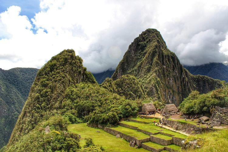 Machu Picchu Partener Selection Ancient Civilization Ancient Architecture Tree Mountain Tea Crop Sky Cloud - Sky Landscape