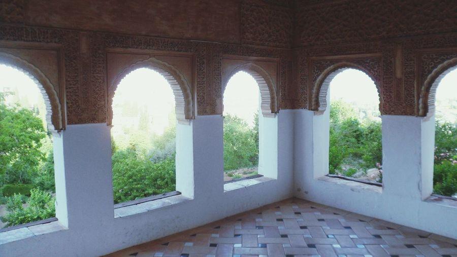 Alhambra Alhambra Window History Arch Architecture Architectural Column Historic Civilization