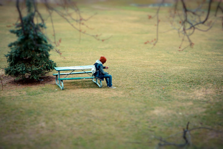 Alone Autumn Park Bench Reading Beauty In Nature Day Distance Fall Grass Hoodie Nature Outdoors Park People Pine Tree Sitting Springtime Texting Tree Two People #urbanana: The Urban Playground
