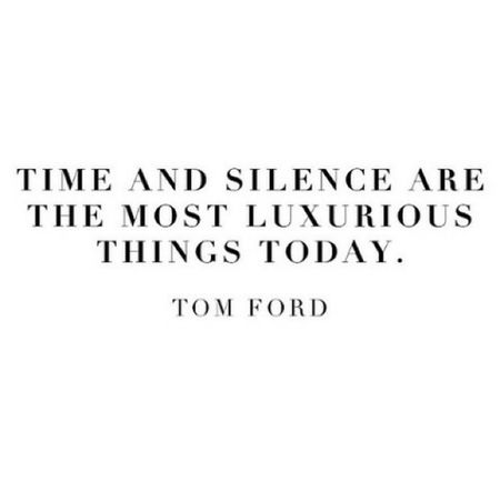 Time Silence Luxury Tom Ford