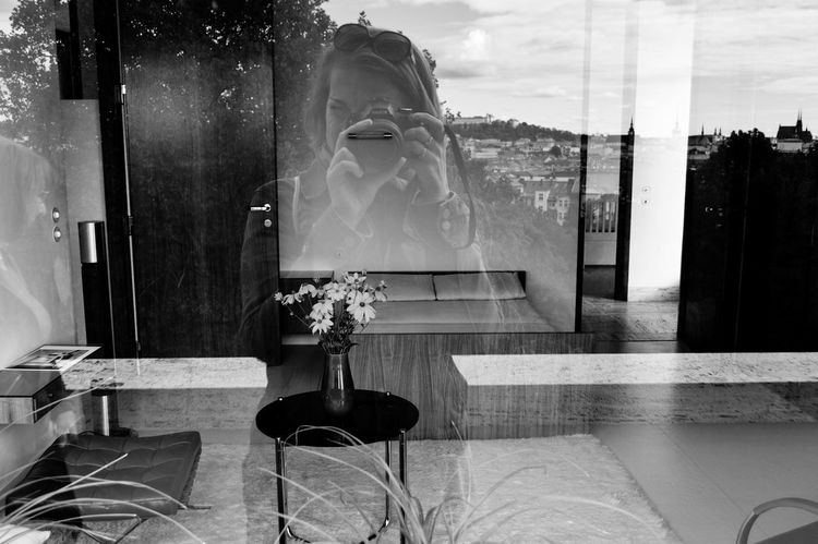 From My Point Of View Reflection Architecture Blackandwhite Blackandwhite Photography Cityscapes Cityview Home Interior Indoors  Monochrome Photography Point Of View Reflection_collection Self Portrait Window Window Reflections Woman Only Women The Week On EyeEm Be. Ready.