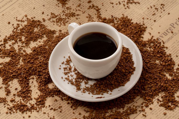Granules Powder Coffee Granules Coffee Powder Food And Drink Cup Drink Mug Refreshment Coffee Saucer Coffee Cup Coffee - Drink Crockery High Angle View Freshness Table Still Life Indoors  Food No People Close-up Black Coffee Hot Drink