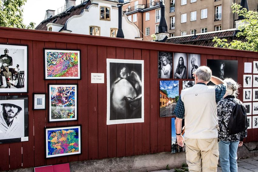 An outdoor exhibition in Stockholm, Sweden 26 aug 2017 Outdoors Exhibition Photo Exhibition Pictureoftheday City Street Street Photography Streetphotography Street Photographer Street Photo Street Bestoftheday Senior Adult City Life Canonphotography Photos Day Standing Streetphoto_color Streetphoto Street Life Streets Streetlife Streetview City