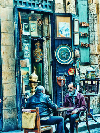 Variation Cairo Egypt Large Group Of Objects Sunlight Cultures Men People Fatimid History Al-moez Street Historical History Sky Antique Shop Hookah Sheesha