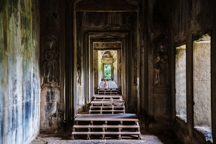Interior Of Angkor Wat Temple