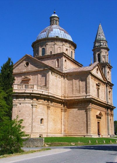 Chiesa Di San Biagio Montepulciano Toscana Italy San Biagio Architecture Belief Building Building Exterior Built Structure Campanile Chiesa Clear Sky Cupola Day Nature No People Place Of Worship Religion Sky Spirituality Tower