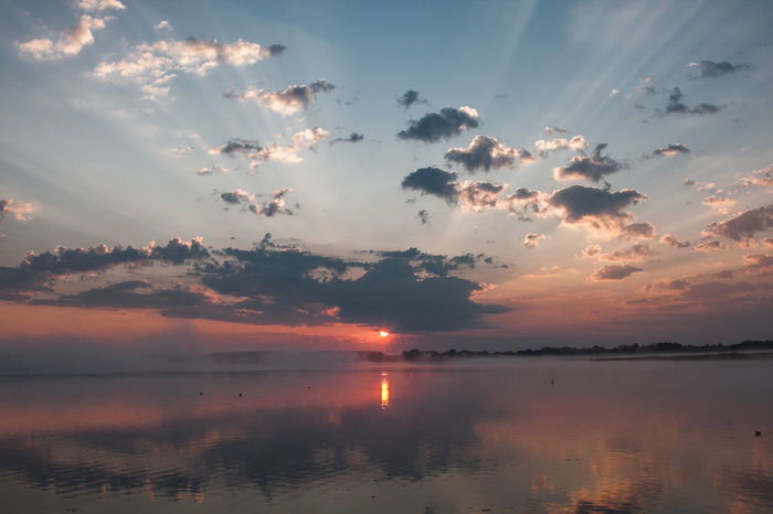 Beauty In Nature Cloud - Sky Day Idyllic Nature No People Outdoors Reflection Scenics Sky Sun Sunset Tranquil Scene Tranquility Water