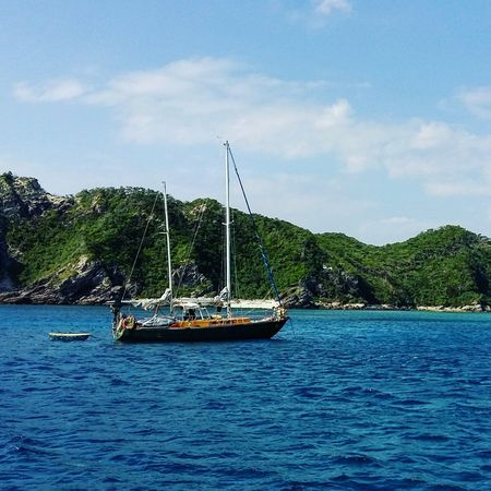 NOMAD Pirate Beauty In Nature Boat Challenge Courage Liveaboard Mast Nature Outdoors Sailing Scenics Sea Sky Tranquil Scene Tranquility Traveller Water Waterfront