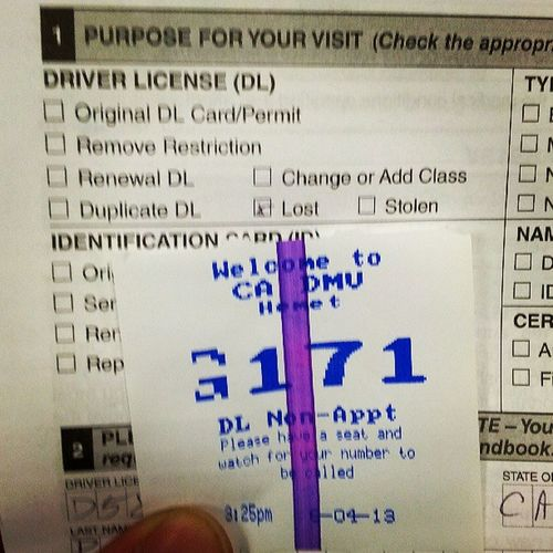 Fuck My Life! They just called G144...I think I'm gonna be here a while! DMV Lostlicense Waiting Helpme Hemet