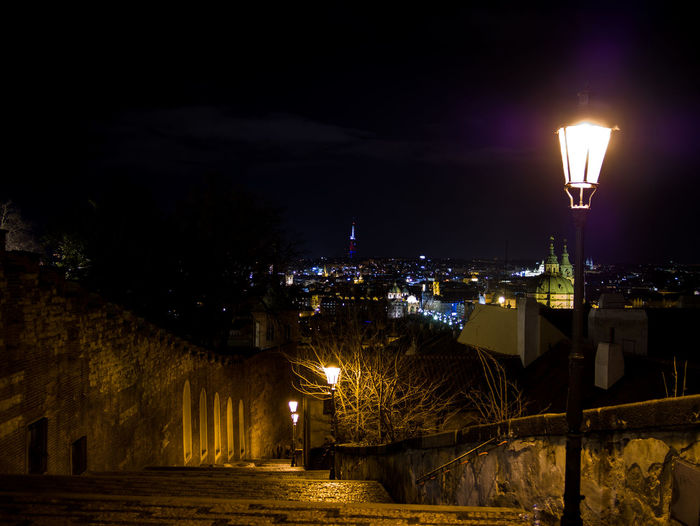 Prague Czech Republic Trip Journey Travel Illuminated Building Exterior Night Architecture Built Structure City Lighting Equipment Building Street No People Street Light Sky Nature Residential District Cityscape Outdoors Glowing Light Light - Natural Phenomenon House Electric Lamp
