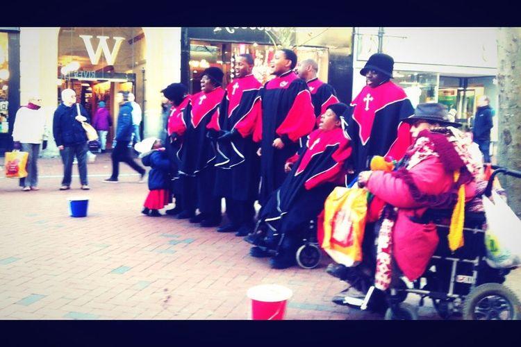 Gospel Choir on Reading 's high street. Silent Night Christmas TheCutestthing Amen
