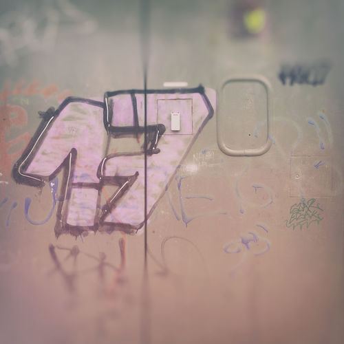 Halo 17 Graffiti Square Typography Blur Close-up Day Graffiti Art IPhoneography Metal Mobilephotography No People Numbers Structured Text Urban