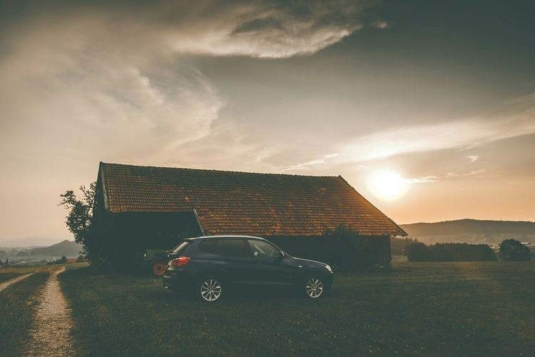 Creative Light And Shadow Nature Landscape Car Bmw