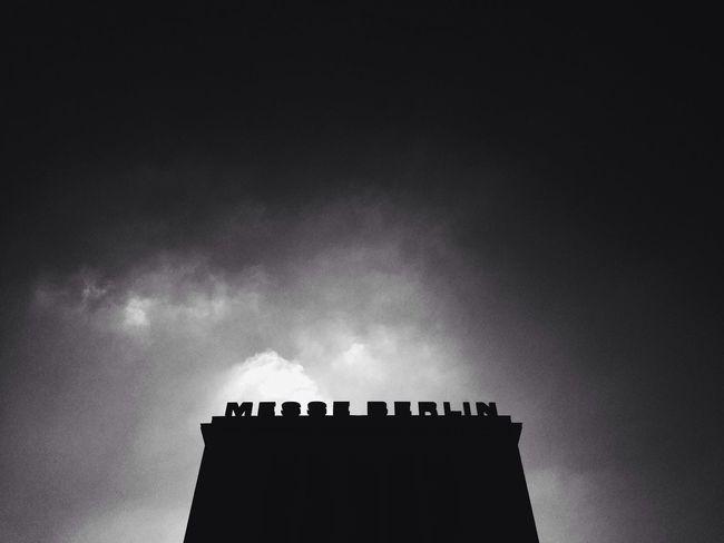 Deutschland. Dein Tag Symmetrical Black And White Silhouette