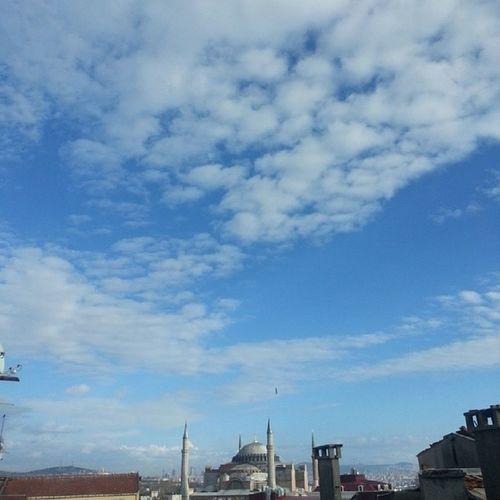 Penceremden Ayasofya Gokyuzu Primeİstanbul Historical Peninsula Istanbul Turkey Türkiye Editsiz Hagiasophia  Picoftheday Turkishfollowers