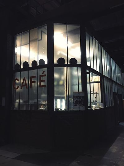 Café - in a museum Take A Rest Cafe Germany Museum Low Light Window Indoors  Architecture Built Structure Building No People HUAWEI Photo Award: After Dark Glass - Material Transparent Glass House