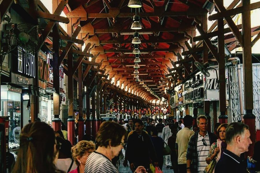 Market Travel Destinations Crowd People Day HeritageVillage Oldtown Local Life Tourist Information Outdoors Dubai❤ Tourists And Locals