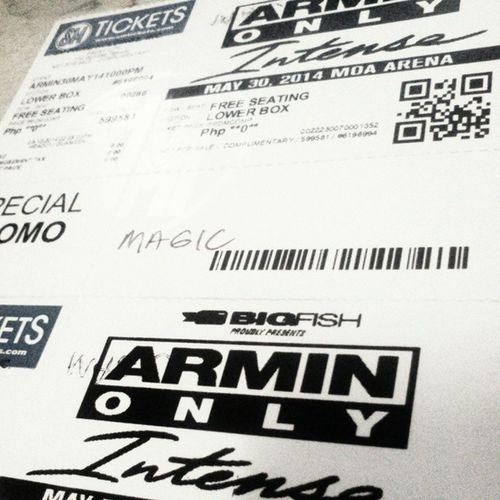 Thanks @nikkorms for these complimentary tickets! See you tomorrow @arminvanbuurenofficial ;) ArminOnlyIntenseManila