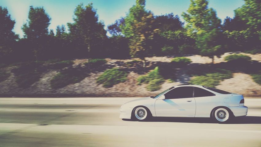 Simply clean Integra cruising the Los Angeles Area Acuraintegra Stanced Car Porn Cleanasfuck