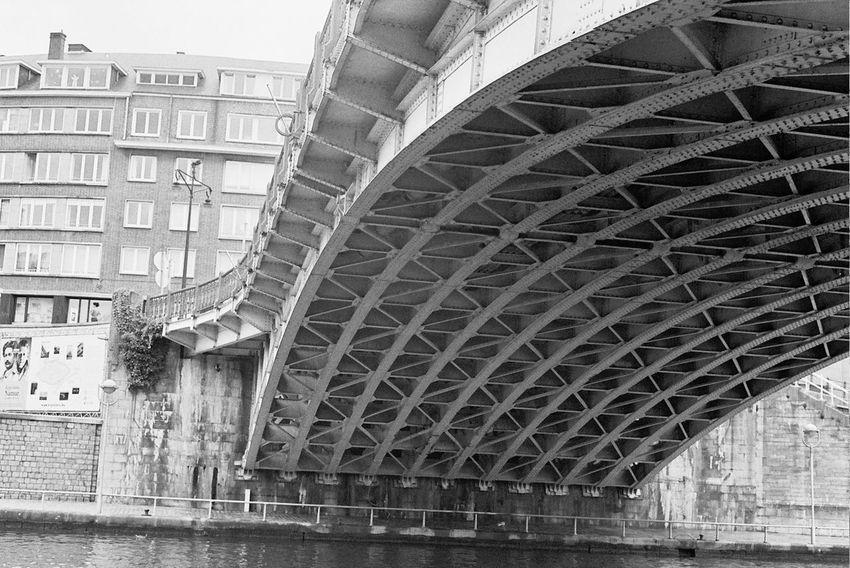 Analogue Photography Architecture Metallic Structure Namur Noir Et Blanc Pont Analog Argentique Black And White Blackandwhite Bridge Metal Bridge Structures & Lines