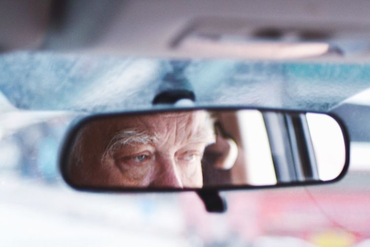 Holidays One Person Real People Headshot Car Portrait Vehicle Interior Men Indoors  Senior Adult Car Interior Close-up Driving Only Men One Man Only Senior Men Day Human Eye People Adult Outdoors Cars