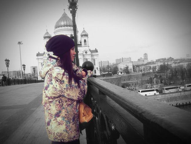 Moscow, Москва МГУ патриарший мост ХрамХристаСпасителя Moscow, Russia Bridge Moscow Russian Church