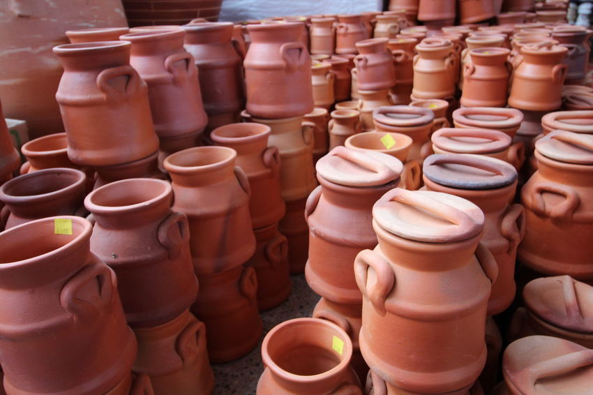 Crafts Market Abundance Art Ceramic Ceramic Art Ceramic Art Craft Ceramics Clay Clay Art Clay Work Earthenware For Sale Handmade Large Group Of Objects Pottery Raquira Retail  Shelf