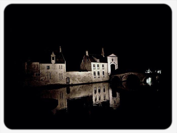 Brugge Belgium Nice Night