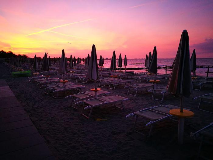 Warm colors of Sunset beach Sunset Nature Beach Italianholidays Loveitaly🇮🇹 Lidodispina