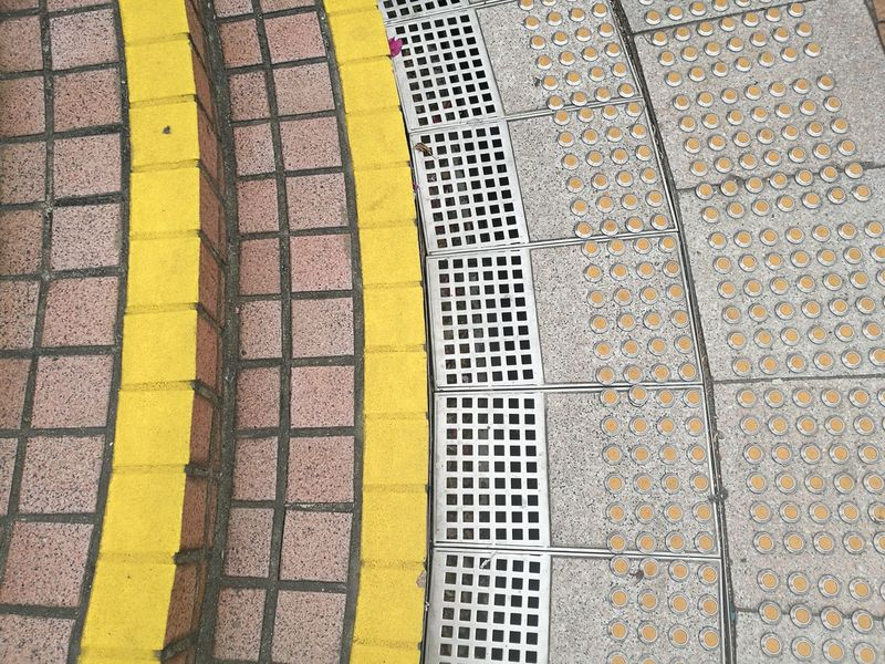 Minimalist Architecture Yellow Textured  Pattern Full Frame Backgrounds Outdoors Day No People Steps Minimalism Minimal Minimalist Squares And Lines Squares And Rectangles Textured  Lines And Angles Lines And Patterns Drains Curves And Lines Break The Mold