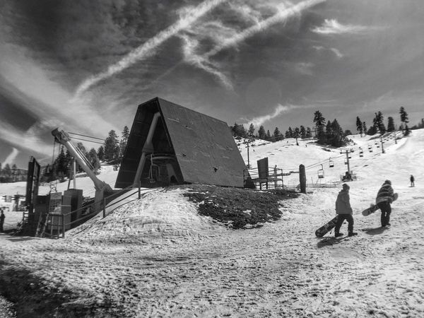 Check This Out Cabin Snow ❄ From My Point Of View Blackandwhite Shades Of Grey Black & White