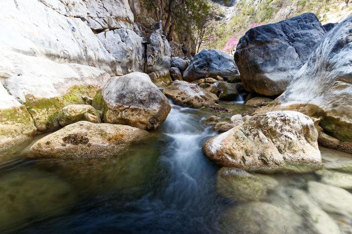 Cañon de San Isidro Agua Arroyo Creek Efecto Seda Monterrey, México Outdoors Rock - Object Scenics Silkysmooth Spring Water Water