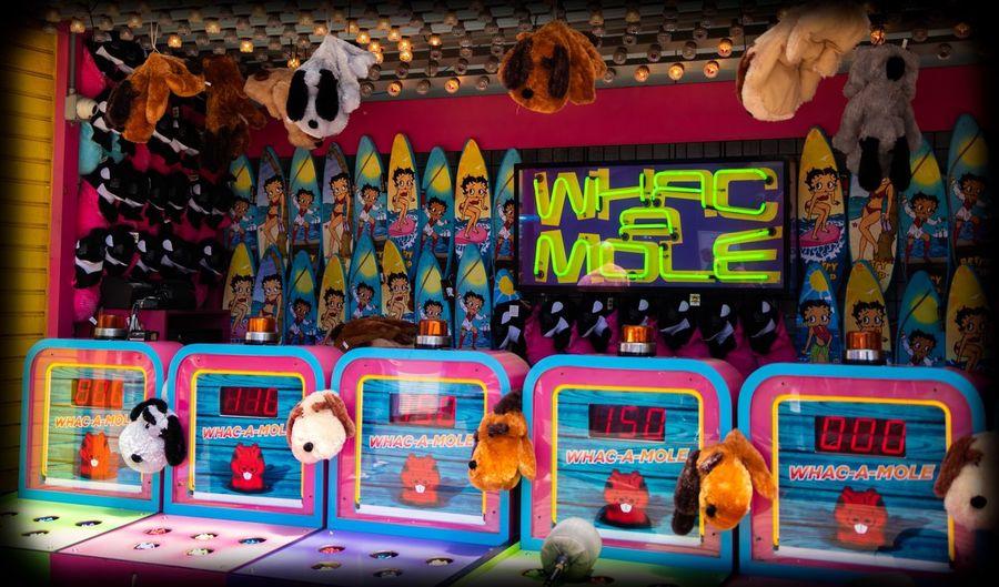 Whac A Mole. Fun at the pier Text Communication Architecture Western Script Multi Colored Retail  Summer Exploratorium