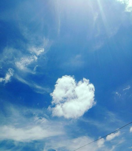 Cloud - Sky Sky Day No People Nature Beauty In Nature Blue Sky Only MrBear 🐻 Tranquility Heart Heartintheclouds Hearthinthenature Heartinsky