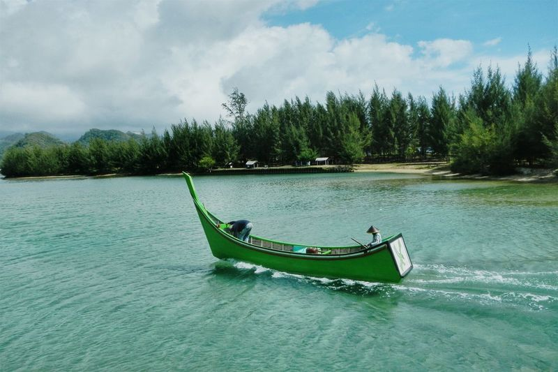 Aceh Traditional Boat | Nature Nature_collection Nature Photography Boat Fisherman Blue Sky Estuary Trip Boat Ride Taking Photos Sea And Sky Estuary View Landscape With Whitewall Landscape Landscape_Collection Asian  Eye4photography  Tsunami Area Blue Wave Need For Speed