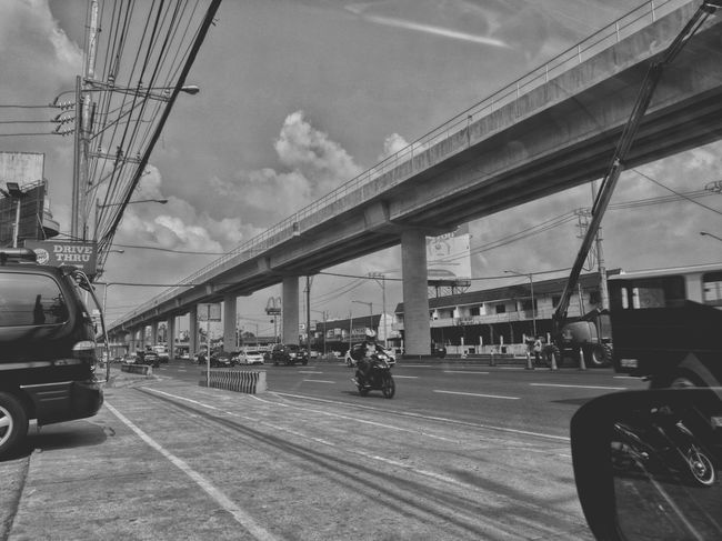 Not our usual route Transportation Bridge - Man Made Structure Sky People Land Vehicle Streetphotography