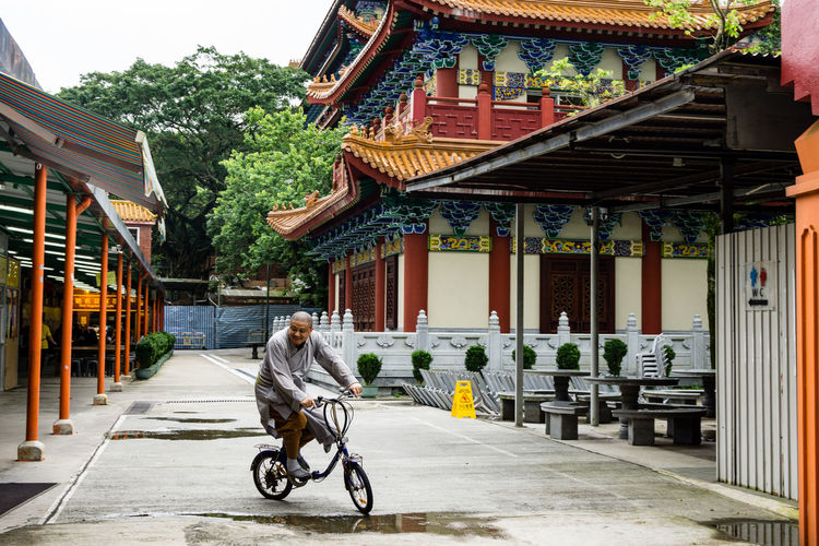 Bicycle Lantau Island NgongPing Priest Temple Travel Destinations