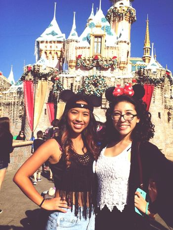 Throwback of me and my best friend at Disneyland for Christmas and New Years. Enjoying Life Disneyland Best Friends