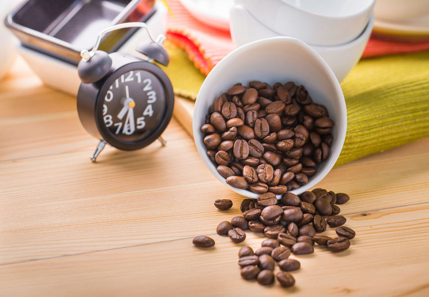 Brown Close-up Coffee - Drink Coffee Bean Coffee Cup Day Food Food And Drink Freshness Group Of Objects Indoors  No People Raw Coffee Bean Roasted Coffee Bean Still Life Table