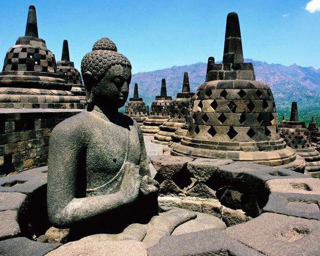 Borobudur Temple Statue Travel Destinations Built Structure Art And Craft Buddha Spirituality Religion Architecture UNESCO World Heritage Site Ancient Civilization People And Places Travelling Photography Tourist Destination