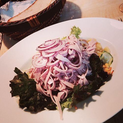 Lumpensalat Lumpensalat Lunch Landgasthof Food Countrypub Essen Salad Businesslunch Foodporn Salat Häuser Wurstsalat Hauserei Hattingen Sausagesalad Countryinn