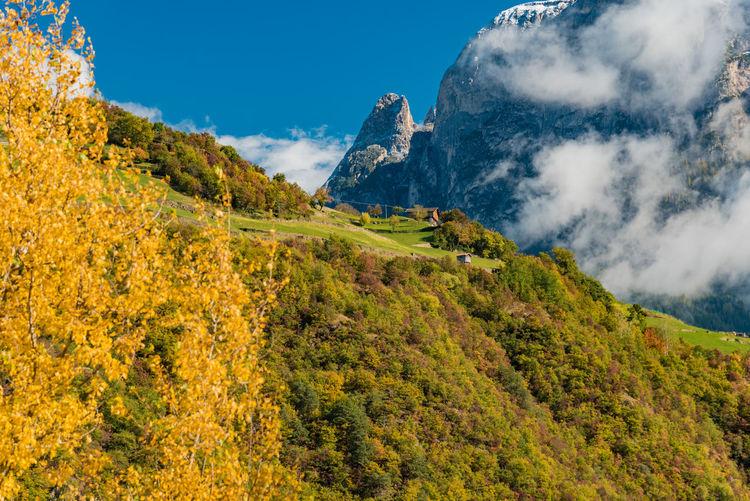 Majestic mountainous landscape in autumn