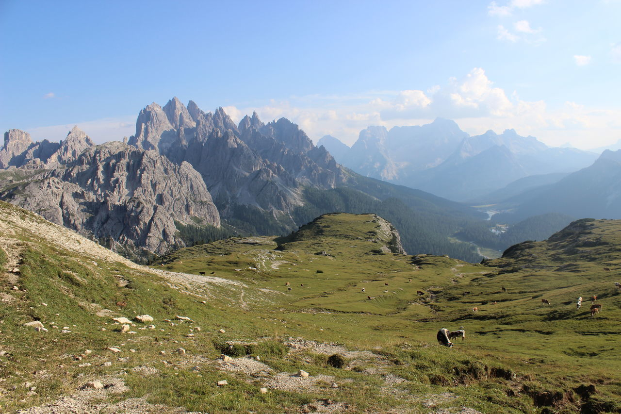 mountain, nature, landscape, beauty in nature, scenery, sky, no people, mountain range, scenics, grass, day, outdoors