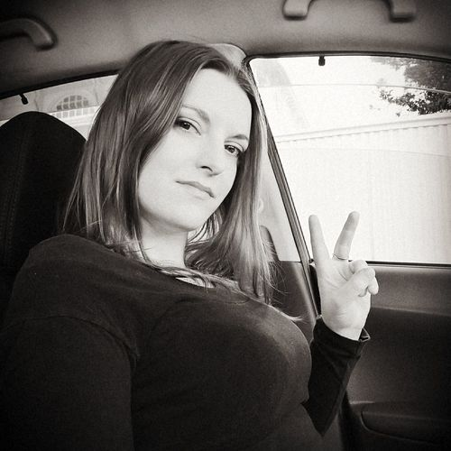 Peace Love and Harmony... Selfie Car Travel Car Interior Mode Of Transport Passenger Only Women Adult People Young Women Boobs, 😚 Blackandwhite Photography Selfie ♥ Me Smiling Girl LifeIsGood💜 Find The Beauty In Every Day Blossom Spontaneous