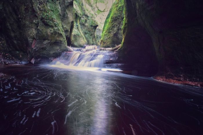 Swirling pool Water Forest Tree Flowing Tranquil Scene Stream River Scenics Tranquility Nature Idyllic Waterfall Beauty In Nature Waterfront Flowing Water Day Remote Outdoors Long Solitude Devil's Pulpit Scotland
