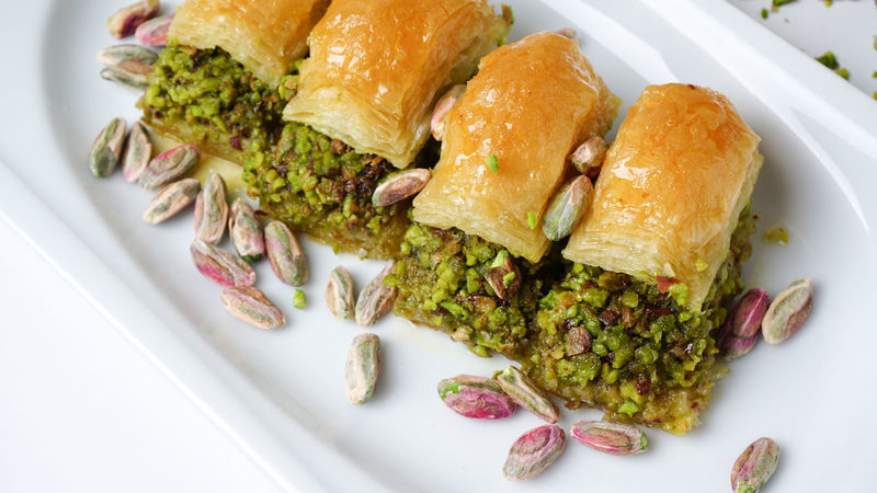 Baklava - traditional middle east sweet desert Close-up Dessert Food And Drink No People Pastry Serving Size Sugary Sweets Walnuts