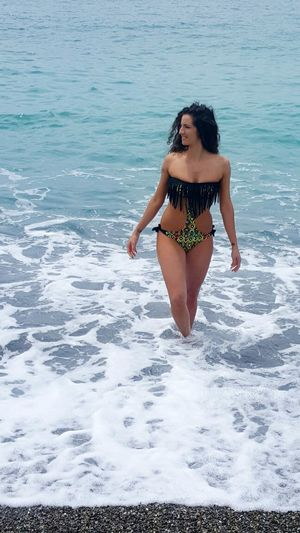 Bikini Girl Woman Body 4giveness Custom Summer Sea Beach Trikini Curly Hair