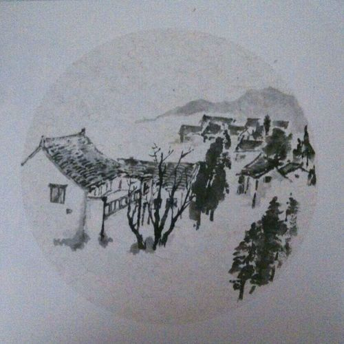 On The Road Painting Art, Drawing, Creativity Drawing Chinese Art