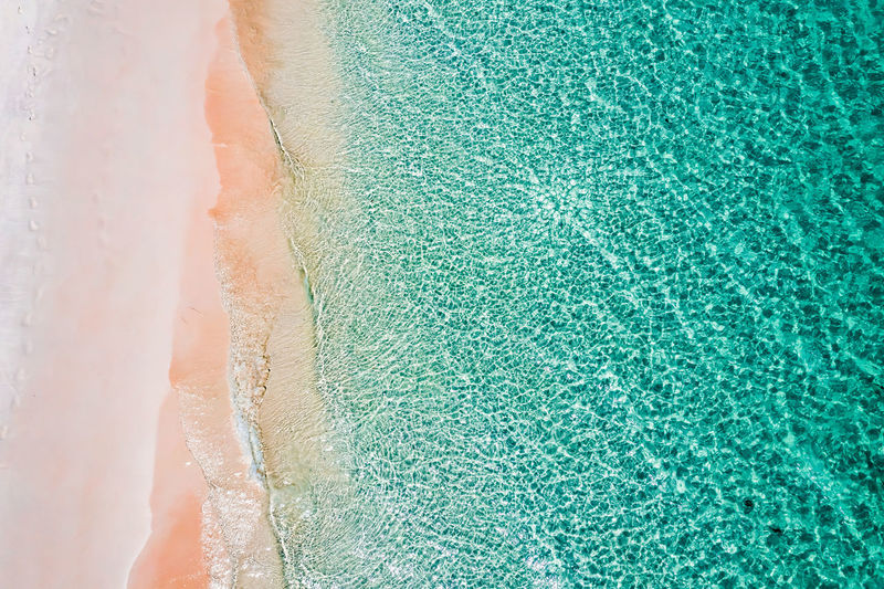 Aerial View of the beach in Boulder Island, Myanmar Sea Beach Water Nature Landscape Green Blue Travel Tourism Day Outdoors Tranquility Island Sand Land Burma Top View Beauty In Nature Indian Ocean Andaman High Angle View Areal View Scenics - Nature Boulder Island Nga Khin Nyo Island