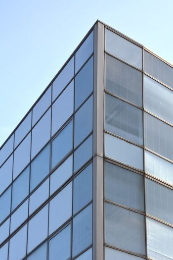 Window Lost Place Glass - Material Architecture Built Structure Building Exterior Modern Window Reflection Blue Low Angle View Day Corporate Business Clear Sky No People Outdoors Sky City